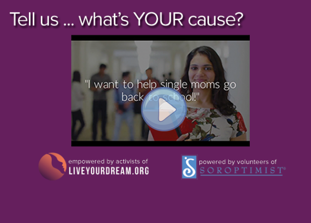 "Click to watch the video ""What;s Your Cause?"""